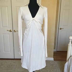 NEW DVF CASHMERE WHITE CREME SWEATER DRESS